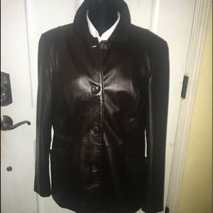 Style & Co fall leather jacket
